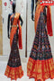 Trendy Black And Orange Color Soft Silk Designer Sarees,Sari