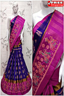 Trendy Blue And Rani Color Soft Silk Designer Sarees,Sari
