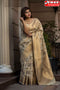 Off White Color Party Wear Hand Weaving Soft Silk Designer Sarees,Sari
