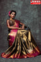 Traditional  Golden Color Hand weaving Designer Soft Silk Sarees,Sari