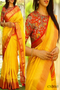 Alluring Yellow Color Soft Silk Designer Sarees