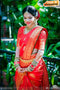 One piece Red colored Silk Trend Saree