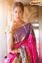Fashionble Designer One piece Purple colored Silk New Saree
