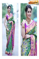 Fanstastic Purple And Firoji Color Soft Silk Designer Saree