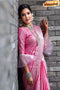 Baby Pink colored Fashionble Designer One piece Soft Silk Saree