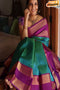 Engrossing Multi Color Festival Wear Designer Soft Silk Saree