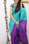 Elegent Firoji And Purple Color Soft Silk Designer Sarees