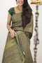 Classic Lemon Grey Chex Color Designer Soft Silk Saree