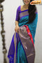 Fabulous Blue And Pink Color Designer Silk Banarasi Saree