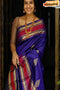 Glitzy Blue Color Soft Silk Designer Party Sarees
