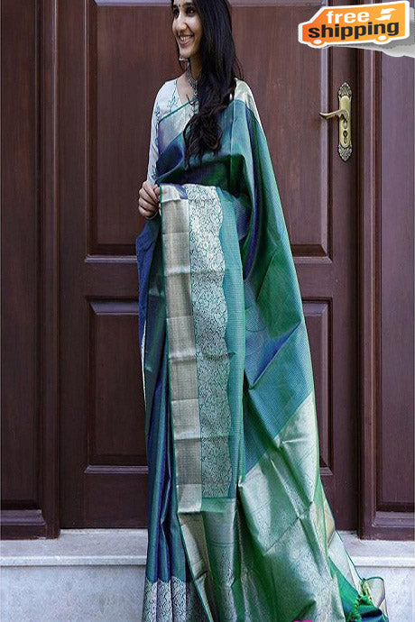 Elegance Multi Color Designer soft Silk Saree