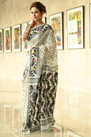 Designer One piece White Color Saree