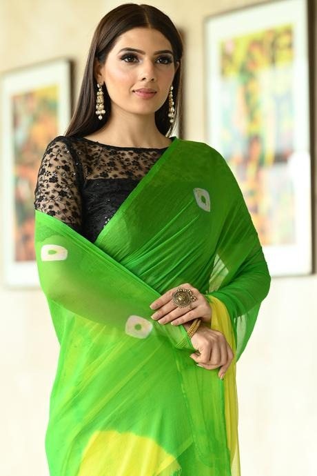 Green Color Party Wear Hand Weaving Soft Cotton Silk Designer Saree