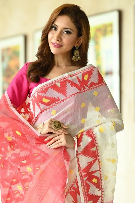 White Color Party Wear Hand Weaving Soft Cotton Silk Designer Saree