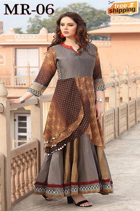 Multi Color Hand Work Latest Designer Gown