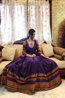 Ambrosial Royal Purple Color Anarkali Designer Gown