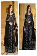 Black color Embroidery Work Stylish Gown