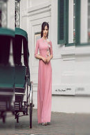 Blooming Light Pink Color Pure Designer Gown