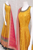 Blooming Yellow Color Pure Designer Gown