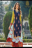 Attractive Light Multi Color Designer Gown Type Kurti