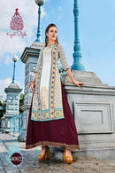 Beautiful Multi Color Attractive Designer Gown Type Kurti
