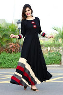 Bewitching BLack Colored Stylish Gown Type Kurti