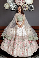 Beatific White Colored Soft Silk Lehenga Choli