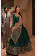Green Banglori Silk Embroidered Work Lehenga Choli