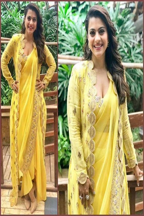 Appealing Yellow Colour Pure Soft Silk Saree