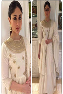 Appealing White Color Embroidery Work  Kurti N Plazoo