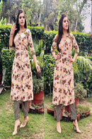 Bottle Creamy Color Attractive Kurti N Palazzo