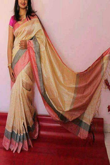 Attractive Multi Color Pure Soft Silk Saree