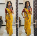 Admirable Yellow Colored Soft Georgette  Silk Saree
