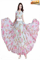 Pure Gorgette Floral Printed Latest Designer Butterfly Gown
