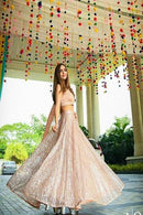 New Mono Net White Colour Indian Latest Designer Bridal Lehenga Choli