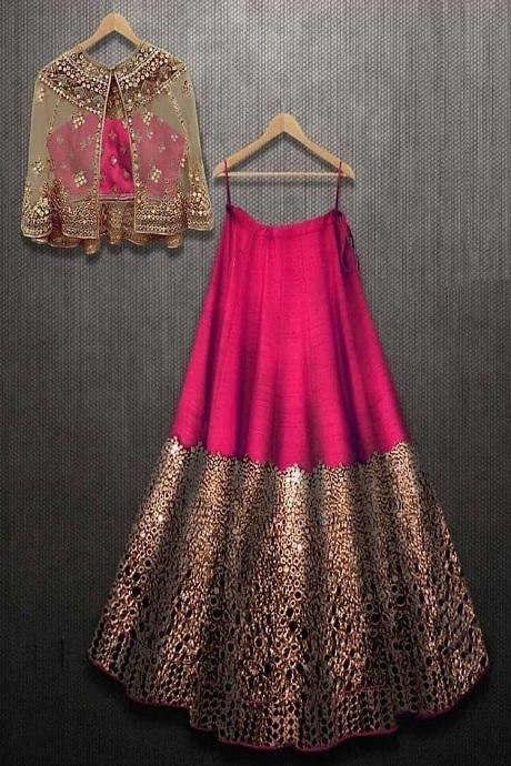Adorning Pink Colour New Styale Designer Lengha