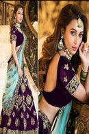 Adorning Purple Colour New Styale Designer Lengha
