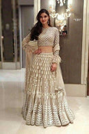 Arresting White Colour New Styale Designer Lengha