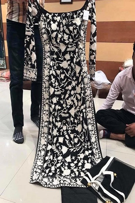 Actress Black Color Designer Gown Type Dress