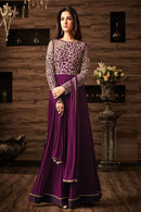Bewitching Wine Color Attractive Designer Gown