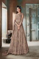Admirable Dark Golden Color Designer Gown