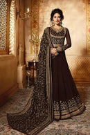 Arresting M Coffee Color Stylish Designer Gown