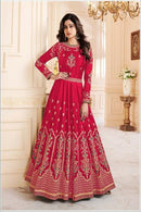 Blissful Light Red Color Attractive Designer Gown