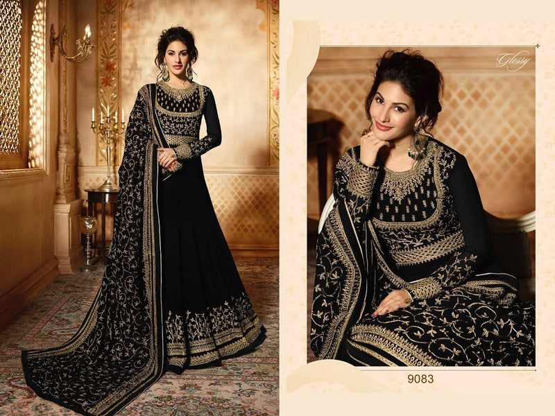 Bewitching Black Color Attractive Designer Gown