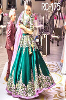 Charismatic Rama Colored Soft Silk Lehenga Choli