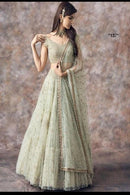 Enchanting White Colored Soft Silk Lehenga Choli