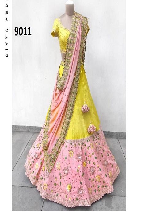 Grand Yellow Colored Designer Lehenga Choli