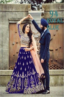 Blissful R Blue Colored Designer Lehenga Choli