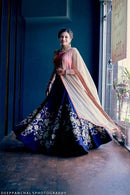 Alluring Royal Blue Colored Soft Silk Lehenga Choli