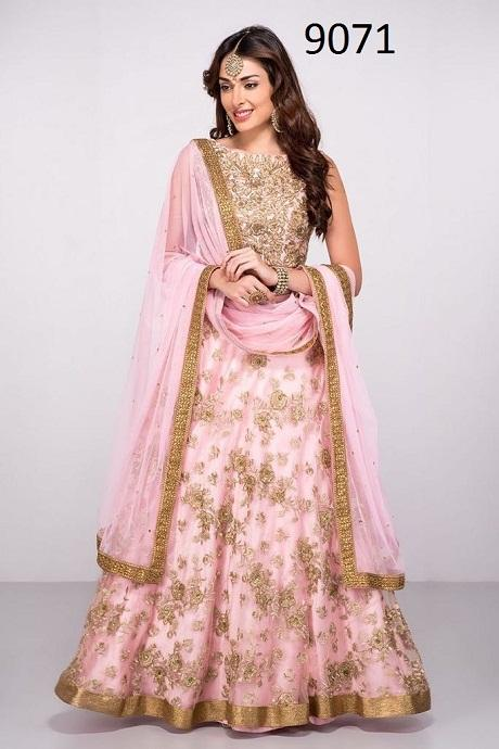 Bollywood Styale Baby Pink New Francy Lenghacholi